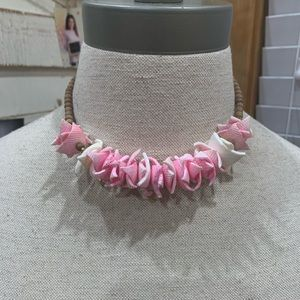 💛 Pink and White Beach Necklace